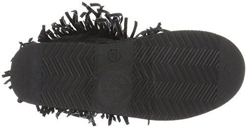 Canadians Boots, Bottes Mi-Hauteur avec Doublure Chaude Femme Noir - Noir (000)