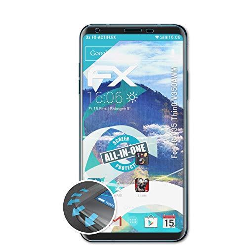 atFolix Schutzfolie passend für LG V35 ThinQ V350AWM Folie, ultraklare & Flexible FX Bildschirmschutzfolie (3X)