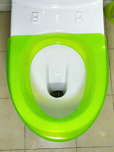 BAOZIV587 Ispessimento portatile pubblico isolamento sedile del water coperchio del WC plastica singola famiglia plastica non usa e getta personale, verde fluorescente