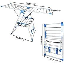 BELLE VOUS Tendedero Plegable - Secador de Aire de Lavandería Portátil de Interior/Exterior de