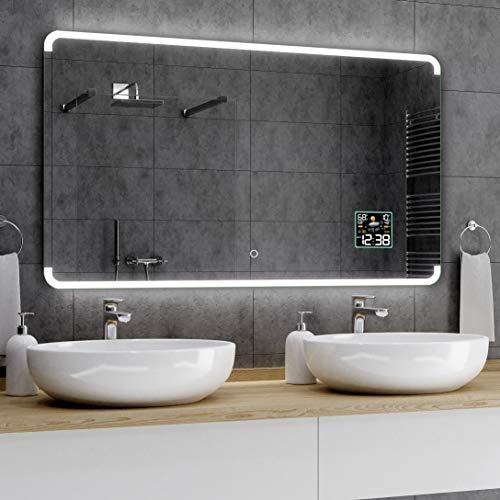Alasta® Premium Espejo de Baño con LED - 200x80 cm - Modelo Assen - Espejo con Interruptor de luz...