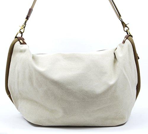 OH MY BAG Sac à main femme en CUIR et TOILE porté épaule Modèle BARBADE Nouvelle Collection BEIGE