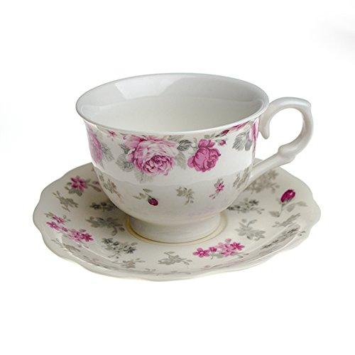 Kaffee-Service Porzellan Kaffeeset Kaffeetassen Kaffeeservice Tasse Hayat Kahve Seti kleine Rosen