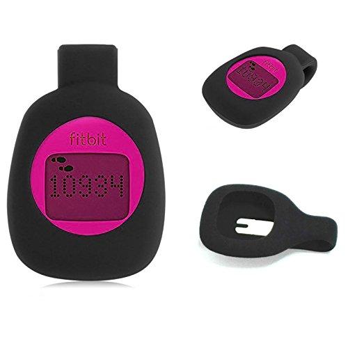 Mofun® en silicone noir en acier à clipser pour Fitbit Zip