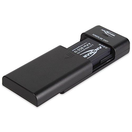 ANSMANN Powerline Easy Akkupack-Ladegerät / Universal Ladestation für Li-Ion & Li-Po Akkupack / Ideal für Digitalkamera, Fotokamera, Camcorder & Handyakku / Mit Akku-Defekt-Erkennung & Verpolschutz (Lipo-akku-ladestation)