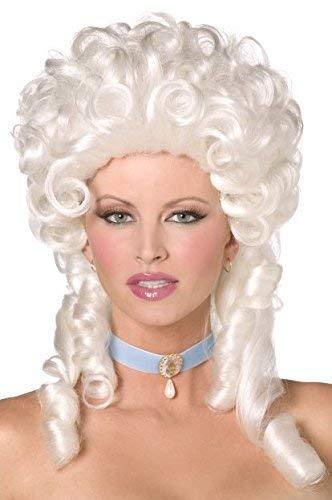 Damen Barock Historisch Marie Antoinette Kostüm Lockig Richterperücke