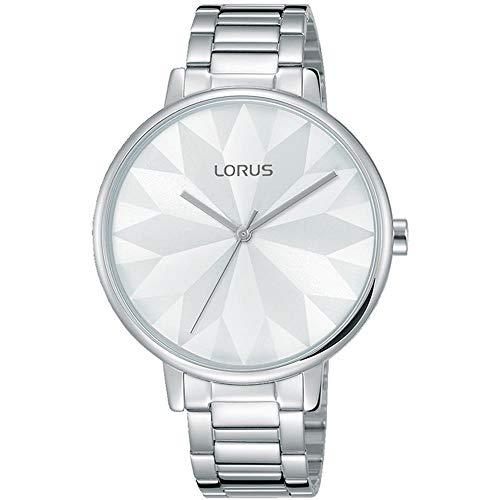 Lorus Femme 36mm Bracelet Acier Inoxydable Quartz Cadran Blanc Montre RG297NX9