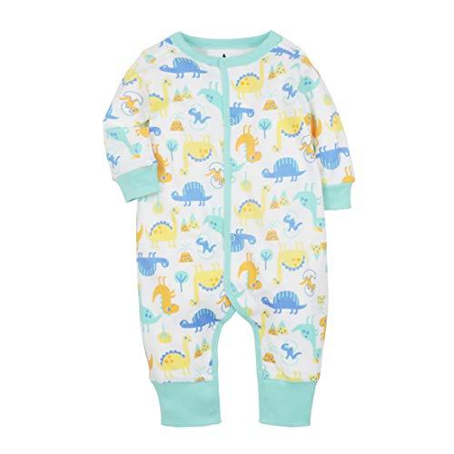 CARETOO Baby Strampler Jungen Mädchen Baumwolle Baby-Nachtwäsche Cartoon Schlafanzug Overalls mit 0-24 Monate
