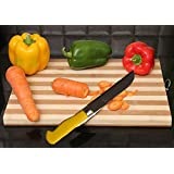 Big Size Wooden Bamboo Cutting Board With 6 Months Guarantee Professional Heavy Duty Durable Chopping Board For Cutting And Chopping Vegetables Fruit Bread Meat,