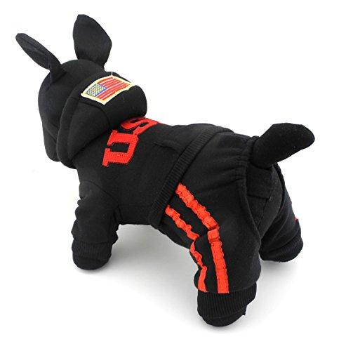 Bling Hoodie Sweatshirt (zunea USA Fleece Puppy Hoodies Kleiner Hund Katze Overall Pullover Fell Sweatshirt Winter Warm Soft Pet Sport Jersey (dieser Style Run klein, wählen Bitte eine Größe größer))