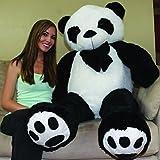 CLICK4DEAL Giant Stuffed/Spongy/Huggable Cute Panda Teddy Bear High Quality (6 Feet)