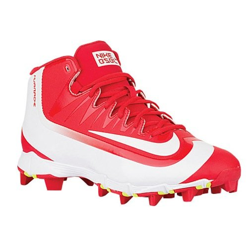Nike Mens Huarache 2KFilth Keystone Mid Baseball Cleat University Red/Volt/White Size 11.5 M US -