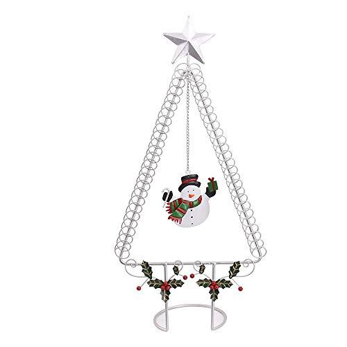 50cm Kartenhalter Clip Halter Memo Clip Kartenhalter Ständer Christmas Wire Tree mit Star Top Xmas hält 50 Karten, Silber -