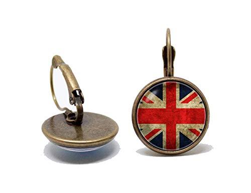 Flagge Ohrringe UK Flagge Ohrringe Patriotische Ohrringe (Patriotische Ohrringe)