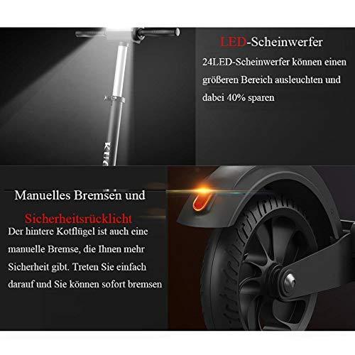 GoZheec E Scooter KUGOO S1 350W, 30km, 30 Km/h, LCD E-Roller Jugendliche und Erwachsene konkurrieren mit M365 (Schwarz) - 3