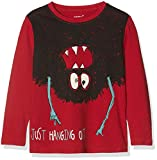 NAME IT Baby - Jungen Langarmshirt NMMOLVAN LS TOP Box, Mehrfarbig (Jester Red), 92