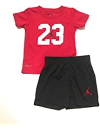 3895115092e Jordan 23 Logo Infant Boys T-Shirt and Shorts Set Gym Red 12 Months