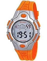 Montre Enfant quartz digitale orange sport chrono alarme etanche