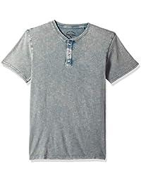 Lucky Brand Men's Casual Short Sleeve Sugar Magic Henley Tee,