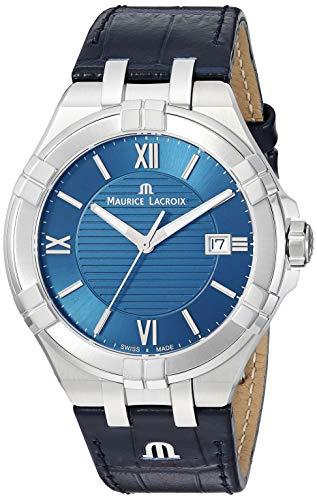 Maurice Lacroix Reloj analógico para Hombre de Cuarzo Suizo AI1008-SS001-430-1