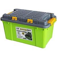Cassetta degli attrezzi Caja de almacenamiento de la caja de almacenamiento del coche Caja de almacenamiento doble del tronco del coche 55L (Color : D)