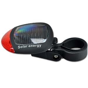 Rot LED Solar Fahrrad-Lichter Fahrrad Solar-Rücklichter Rücklampe Rücklicht Rückleuchte