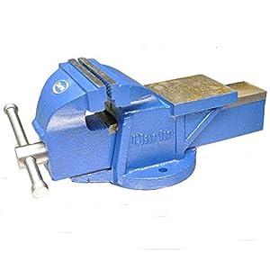 Clarke International – Tornillo de banco fijo (para trabajos con metales, 150 mm), color azul