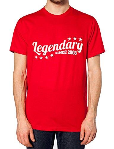 Legendäre seit 2003T Shirt Rot - Rot