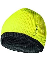 elysee Thinsulate®-Mütze zweifarbig - Strickbeanie (floureszierend gelb/schwarz)