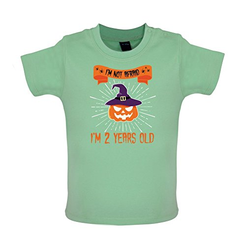 Ich habe keine Angst - Ich bin 2 Jahre alt - Baby T-Shirt - Mintgrün - 18 bis 24 (Kostüm Grüne Ballon)