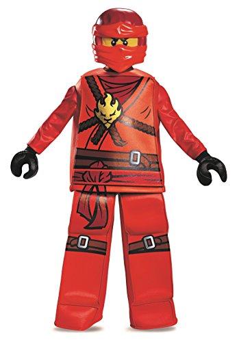 LEGO Ninjago 99084L Kai Prestige Kostüm (klein 4-6 jahre ) (Lego Red Ninja)