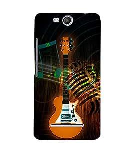 Fuson Designer Back Case Cover for Micromax Canvas Juice 3+ Q394 :: Micromax Canvas Juice 3 Plus Q394 ( Headphones Earphones Mic Vintage Music )