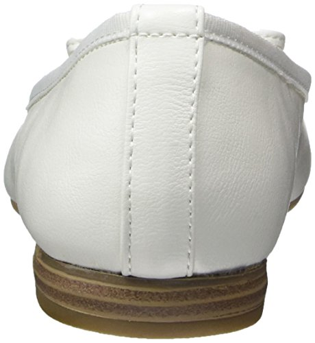 Marco Tozzi Damen 22137 Geschlossene Ballerinas weiß (white)