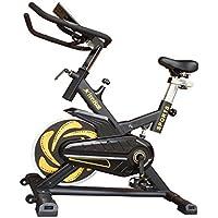 Fitness House Bestia Sports Bicicleta de Ciclo Indoor, Unisex Adulto, Amarillo/Negro, M-L