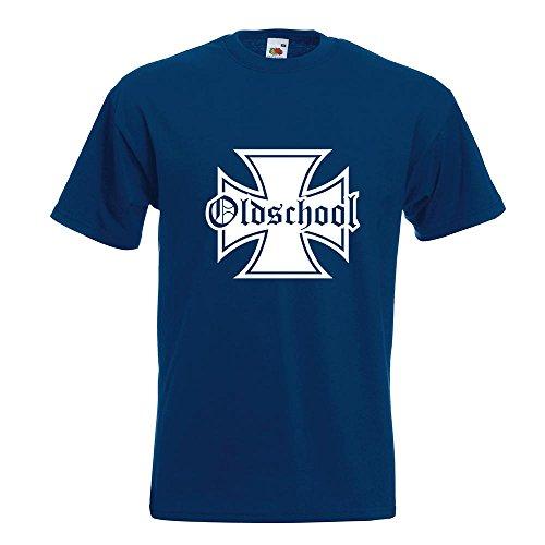 KIWISTAR - Oldschool Eisernes Kreuz T-Shirt in 15 verschiedenen Farben - Herren  Funshirt bedruckt