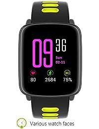 Rawdah GV68 Llamada de muñeca Bluetooth Smart Heart Rate Smart Pedometer Mate Watch ...