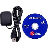 QGP USB 2.0 Wasserdicht Active GPS GLONASS Empfänger Antenne, Gain 28 dB