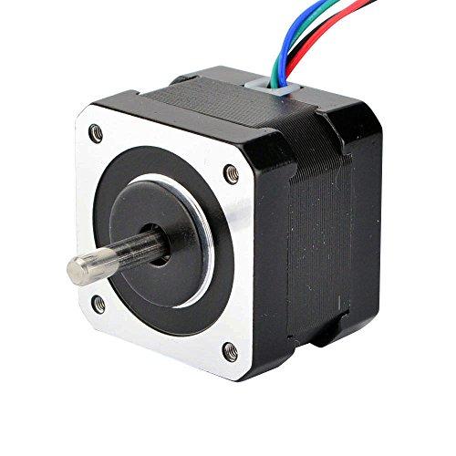 12 Doppel-draht (STEPPERONLINE Doppel Schacht Nema 17 2 Phase 4-Draht Schrittmotor 1.8deg 26Ncm 12V 0,4A für 3D Drucker)