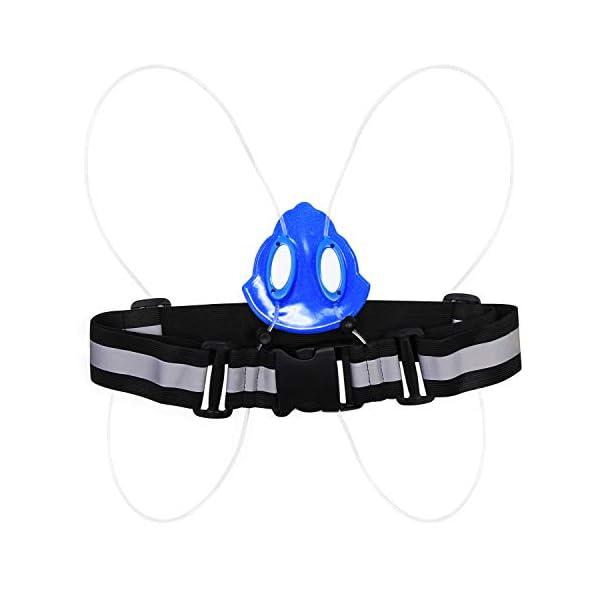 Adjustable LED Lighting Safety Vest High Visibility with Reflective Waist Belt
