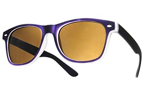 New Zwei violett Rubi Classic Unisex (Herren, Damen) Geek Stil Retro 1980der Fashion Sonnenbrille