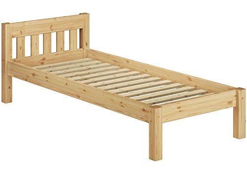 Erst-Holz 60.38-09 Einzelbett mit Rollrost - 90x200 - Massivholz Natur -