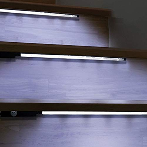 Fiber-optic-cabinet (Yukiko Motion Sensor Activated Accent Lighting LED Strips Battery Operated Light Bars)