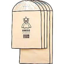 ZiXingA Paquete de 5 Bolsas para Ropa Transpirables, para Almacenamiento Protector de Trajes y Vestidos