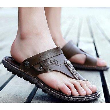 Slippers & amp da uomo;Casual Comfort PU Primavera, sandali marroni sandali Brown