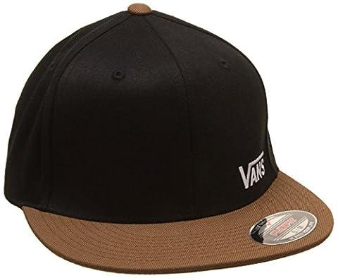 Vans_Apparel Men's Splitz Baseball Cap, Black (Black/Toffee), Medium (Manufacturer