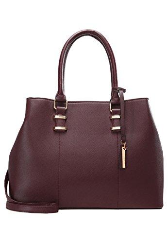Anna Field Shopper Tasche für Damen, Bordeaux, One Size