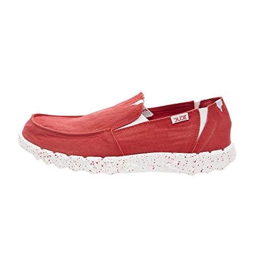 Dude Shoes Farty Uomo Rosso Lavato UK10 / EU44