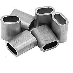 Constrabo® | 50x Ferrules en aluminium 1,0 mm | Ovales manchons de presse en aluminium DIN EN 13411-3 (DIN 3093) | Ferrule de câble d'acier en aluminium, connecteurs pour câbles métalliques, virole