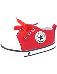 Niños Niñas Zapatillas de Tela Unisex, Moda Casuales al Aire Libre Zapatos Planas con Suela Blanda Comodos Clásicos Zapatillas de Lona para Bebé Niños Tallas 21-37