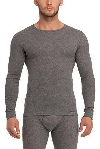 Timone Herren langarm Unterhemd Melange
